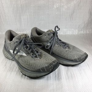 Brooks Ghost 11 Grey Lace Comfort Running Sneakers